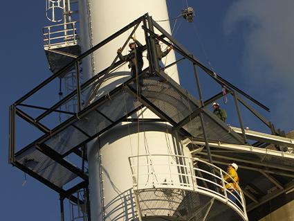 Renforcement cheminée, bâtiment industriel